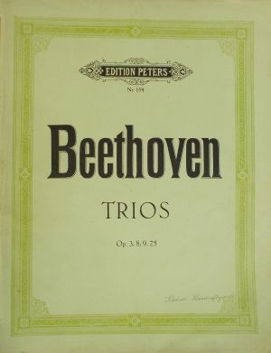 Бетховен - Трио оп.3,8,9,25 за флейта,цигулка и виола
