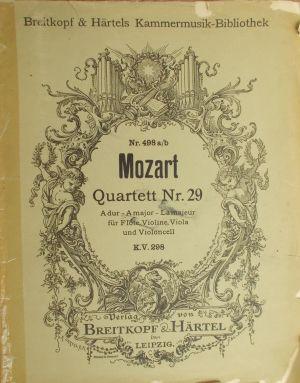 Моцарт - Квартет Nr.29 за флейта, цигулка,виола и виолончело KV 298