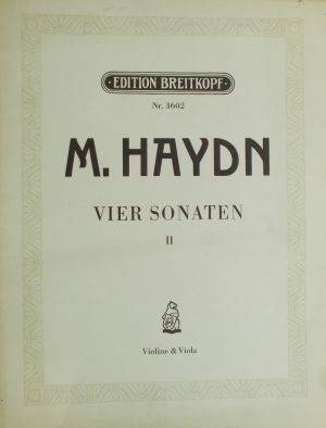 М.Хайдн-Четири сонати  за цигулка и виола