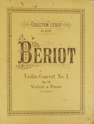 Берио - Концерт Nr.1  оп.16 за цигулка и пиано