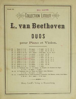 Бетховен - Соната ла мажор оп.30 Nr.1