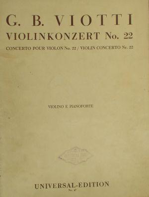 Виоти-Концерт за цигулка   Nr.22