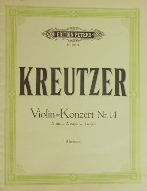 Кройцер - Концерт за цигулка Nr.14 ла мажор