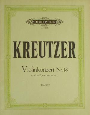 Кройцер - Концерт за цигулка Nr.18 ми минор
