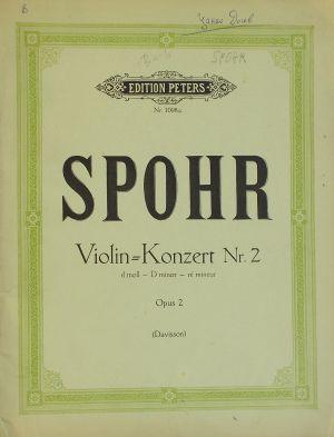 Шпор - Концерт за цигулка Nr.2 ре минор op.2
