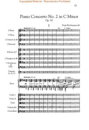 Рахманинов - Концерт за пиано №1 в до минор партитура +CD