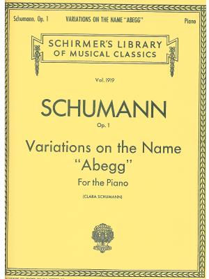 """Шуман - Вариации върху името """"Abegg"""" op.1"""