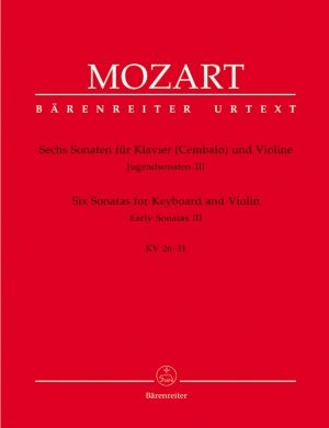 Моцарт -Сонати за пиано и  цигулка   KV  26-31