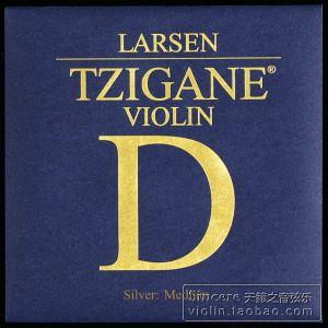 Larsen Tzigane D silver medium единична струна за цигулка