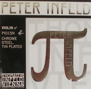 Thomastik Peter Infeld единична струна за цигулка Е - PI01SN chrome steel.tin plated