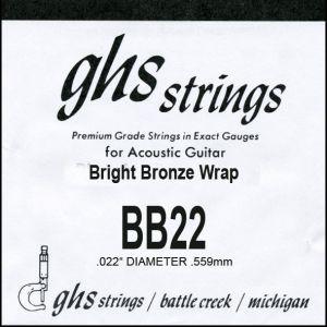 GHS BB22 струна bright bronze за акустична китара -0.22