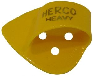 Herco® Flat/Thumbpicks - yellow heavy