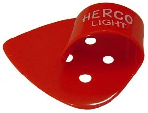 Herco® Flat/Thumbpicks - red light