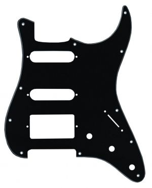 Catfish Pickguard Type Stratocaster(TM), 3-пластов, черен 683101