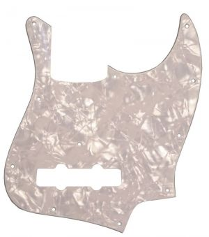 Catfish Pickguard J-Type 3ply, white pearl