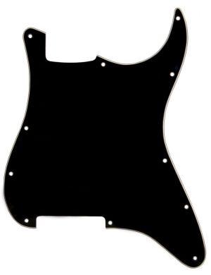 Catfish Pickguard S -Type Stratocaster  3-пластов, black 683201 без дупки