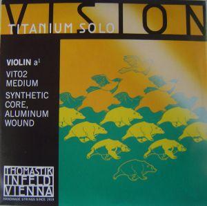 Thomastik Vision Titanium Solo synthetic core - единична струна A за цигулка - алуминиева намотка
