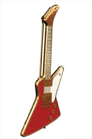 Red Gibson Explorer значка - безопасна игла