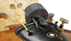Сурдина за цигулка Tourte-Bech с магнит и метална клипса