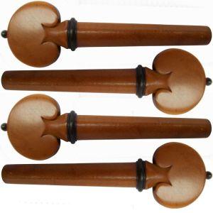 ключове за цигулка модел Heart с черно топче и гривна - чимшир -  комплект