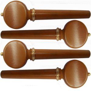 ключове за виола модел Swiss със златно топче и гривна - чимшир -  комплект