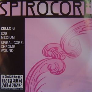 Thomastik Spirocore Spiral core Chrome wound  единична струна за чело - G
