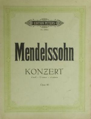 Менделсон Концерт за пиано в ре минор оп.40