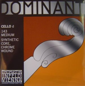 Thomastik Dominant Synthetic core Chrome wound  единична струна за чело - D