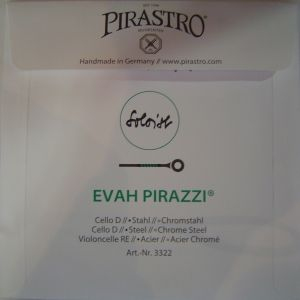 Pirastro Evah Pirazzi soloist Chrome Steel single string for Cello - D