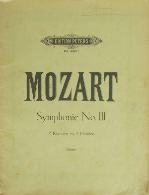 Моцарт Симфония №2  за пиана на 4 ръце