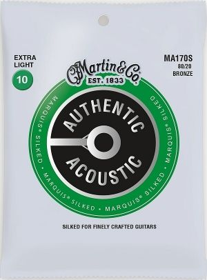 Martin Authentic Acoustic Marquis MA170S струни за акустична китара - 80/20 Silked Bronze 010-047