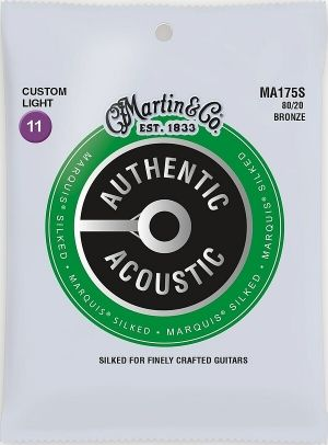 Martin Authentic Acoustic Marquis MA175S струни за акустична китара - 80/20 Silked Bronze 011-052