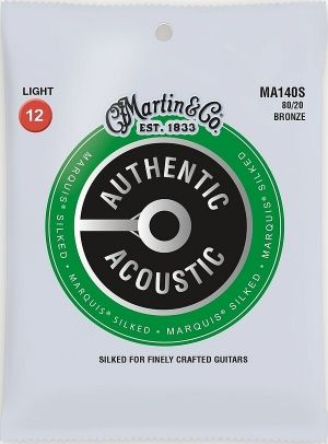 Martin Authentic Acoustic Marquis MA140S струни за акустична китара - 80/20 Silked Bronze 012-054